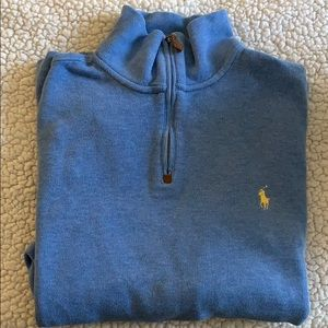 {Polo} Men's 1/4 Zip Sweater